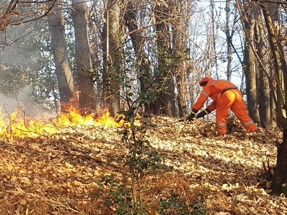 volontari antincendio boschivo brezzo di bedere