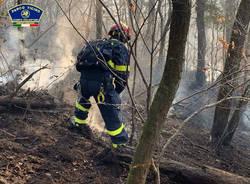 volontari parco ticino incendio lentate