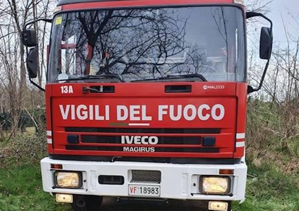 Cairate - Intervento dei Vigili del fuoco