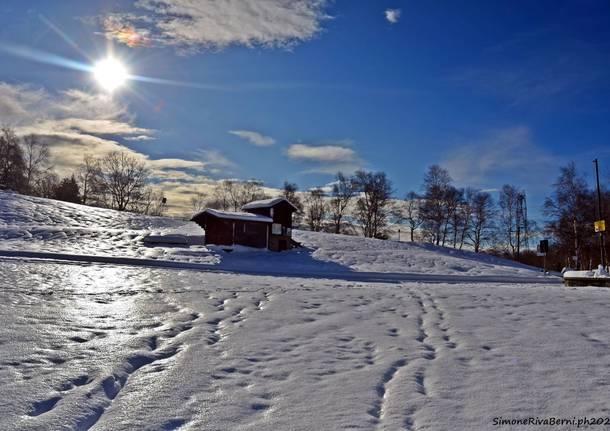 Forcora, le foto della nevicata di marzo