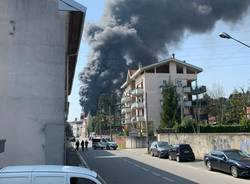 Incendio Ditta Gallazzi SpA di Gallarate.