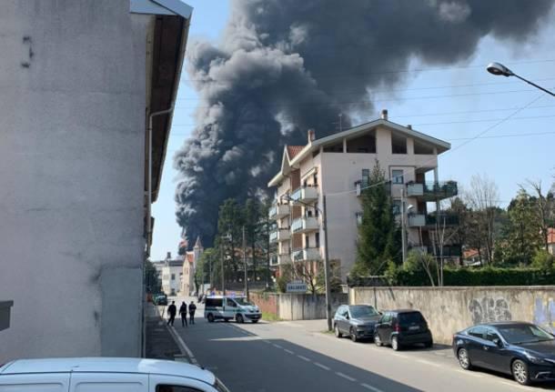 Incendio Ditta Gallazzi SpA di Gallarate.