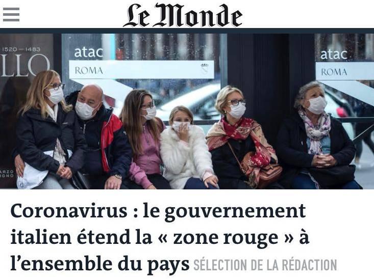 I giornali stranieri sul coronavirus