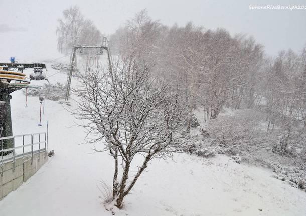 La neve in forcora - foto simone riva berni