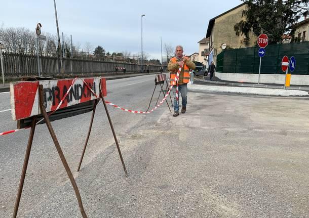 Riapre via del Ponte a Busto Arsizio