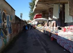 Saronno, il mercato al tempo del coronavirus