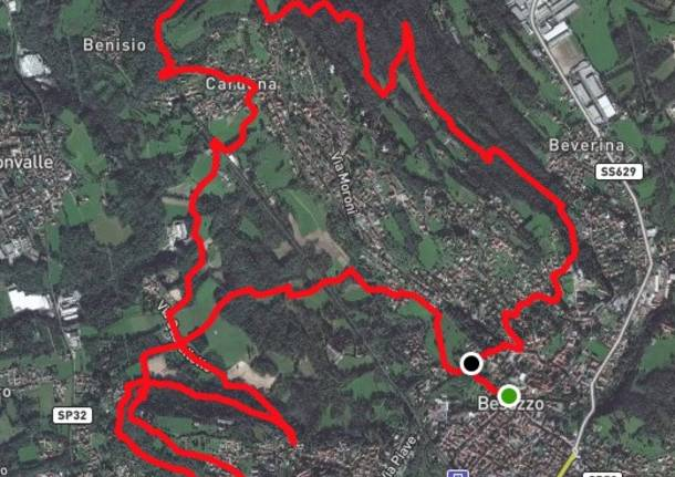 Sentieri di 14 Km a Besozzo