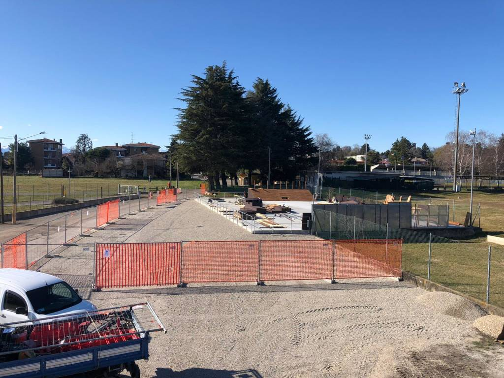 Skate Park Somma Lombardo cantiere