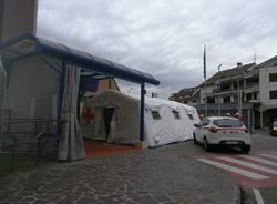Tenda ospedale Busto Arsizio