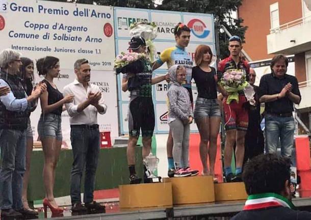 ciclismo podio gp dell'arno 2019