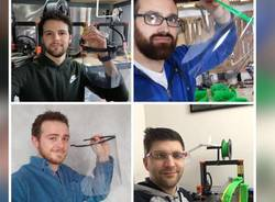 Le visiere facciali prodotte con le stampanti 3D