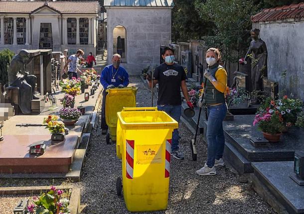 pulizia cimitero albizzate