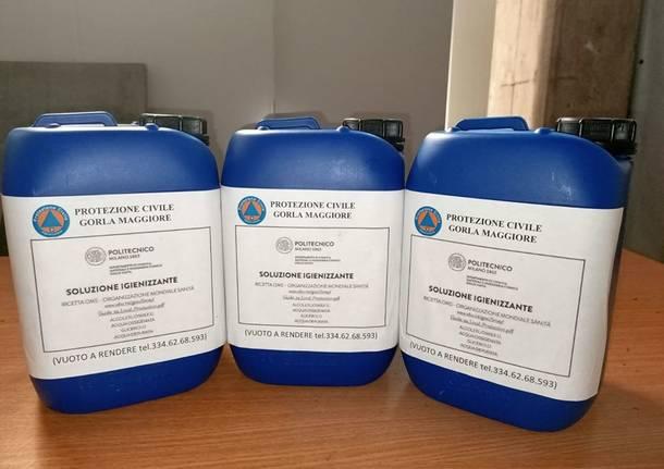 soluzione igienizzante protezione civile vigili del fuoco tradate