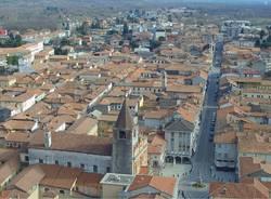 Borgomanero, centro visto dal drone