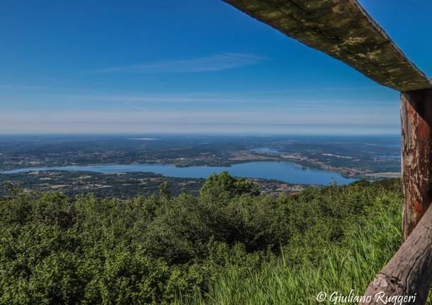 Panorama sui nostri laghi dal Forte di Orino Varese Campo dei Fiori