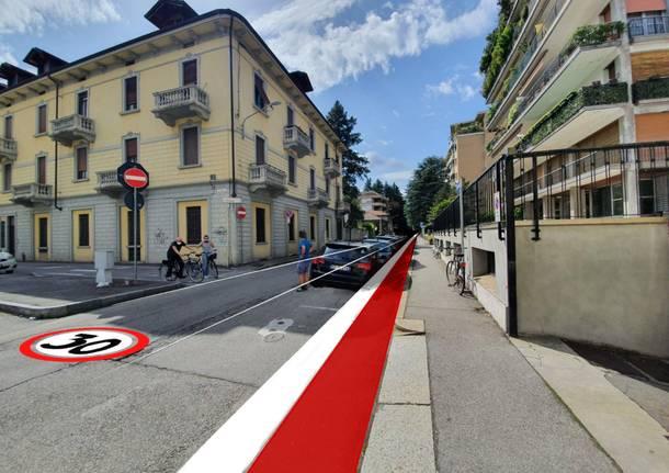 """Gallarate - Tre """"linee ciclabili"""" tra stazione e scuole di Gallarate: il piano ciclabile per ripartire a settembre - Gallarate/Malpensa - Varese News"""