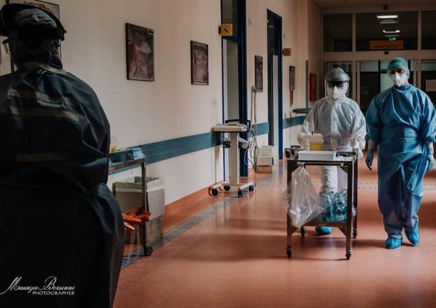 Cuasso al Monte - Reportage dal reparto Covid - foto di Maurizio Borserini