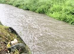 pioggia fiume piena