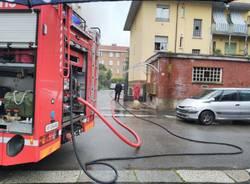 incendio via Torino Legnano
