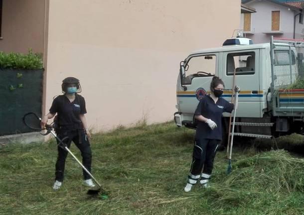 Induo Olona – La Protezione civile al lavoro sulle aree verdi