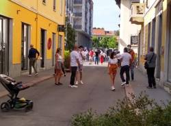 Legnano, centro affollato