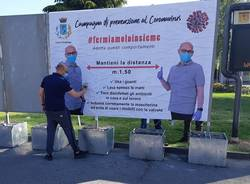 Manifesti Parabiago distanziamento sociale sindaco Cucchi