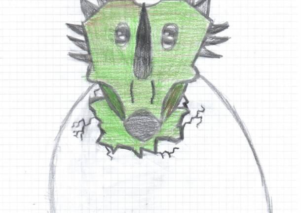 Le mascotte Archeo della 1^E di Cuasso