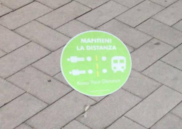 Norme per il distanziamento in stazione a Legnano