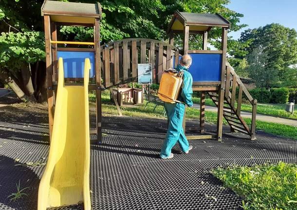 sanificazione area giochi