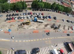 """Si """"butta giù"""" il veccio capolinea di piazzale Kennedy a Varese"""