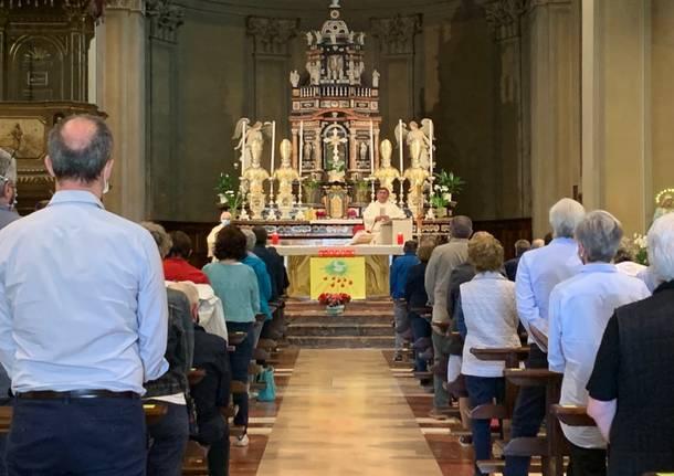 Vedano Olona: la prima messa festiva dopo l'emergenza coronavirus
