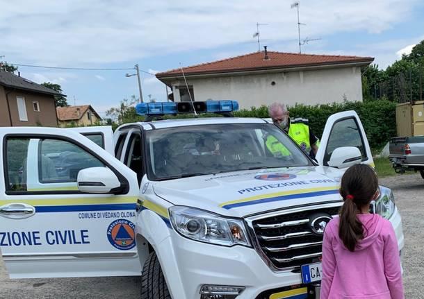 Vedano Olona: il nuovo mezzo della Protezione civile