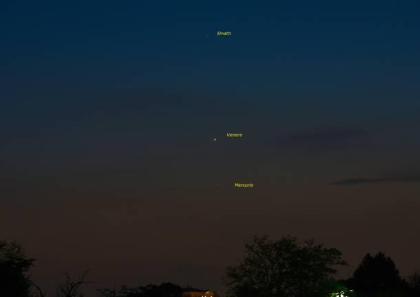 Venere, Mercurio e la Luna