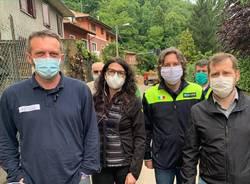 Alluvione Alto Varesotto: sopralluogo della delegazione di Regione Lombardia