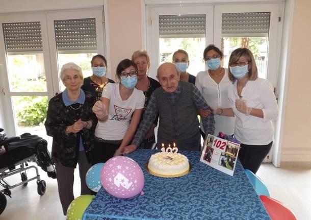 Antonio Gianazza a 102 anni guarito dal Covid