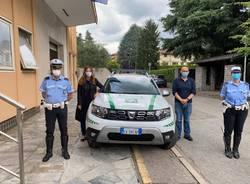 auto con cella di sicurezza polizia locale di parabiago