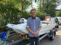 Biandronno, presentazione barca elettrica  e colonnina