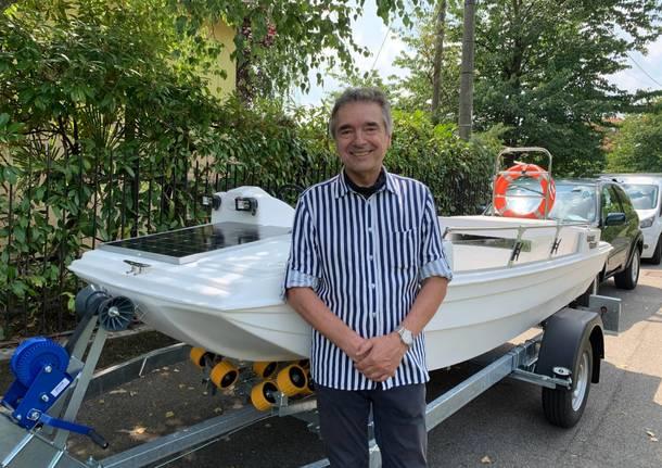 Taglio del nastro per Giulietta, la barca elettrica