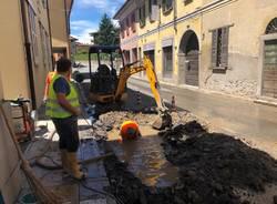 Brebbia: perdita d'acqua in via Matteotti
