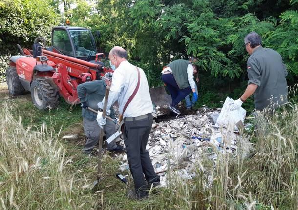 cacciatori di san giorgio e canegrate ripuliscono il parco del roccolo