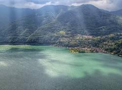 Il lago di Lugano cambia colore