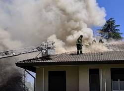 Incendio in una casa ad Albizzate