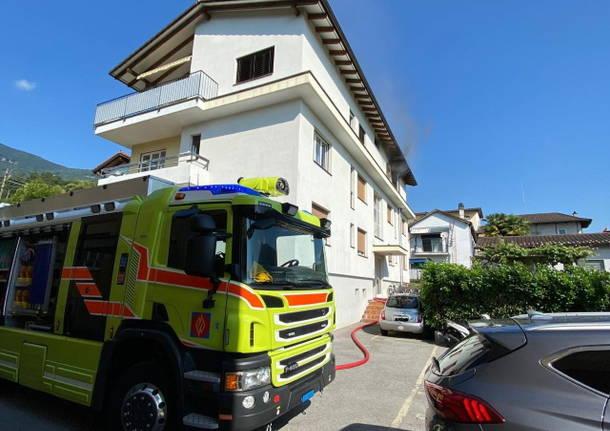incendio losone giugno 2020 civici pompieri locarno