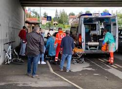 incidente ciclista gazzada schianno giugno 2020