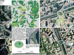 Rotonda di largo Flaiano proposta dell'architetto Pevarello