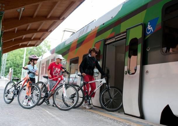 treno bicicletta