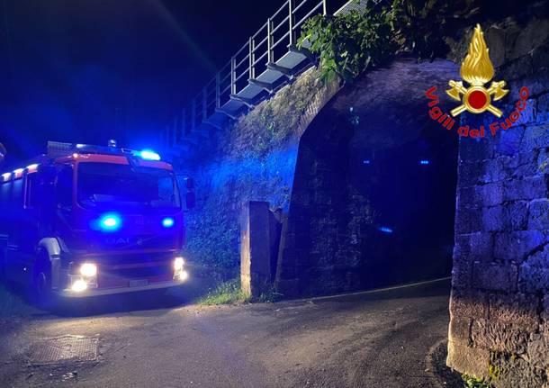 treno tronzano vigili del fuoco