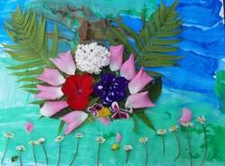 Varese - I fiori dei bambini della scuola materna di Lissago per il Comitato Maria Letizia Verga