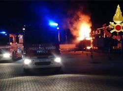 vigili del fuoco a Rho
