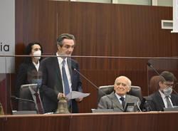 50° anniversario della nascita di Regione Lombardia: la cerimonia con i presidenti Fermi, Fontana e Bassetti